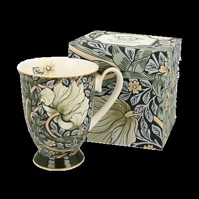 Kubek porcelanowy na stopce DUO Morris Green 300 ml