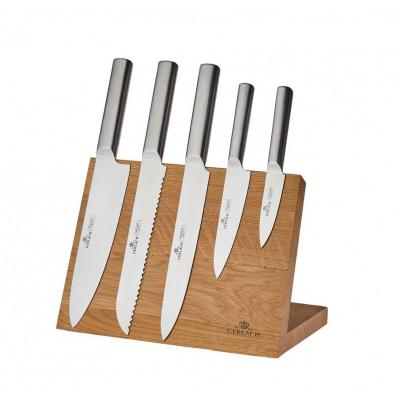 Zestaw noży z deską magnetyczną GERLACH Ambiente Magnetic 6-elementowy