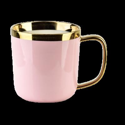 Kubek porcelanowy Sammy różowy 360 ml