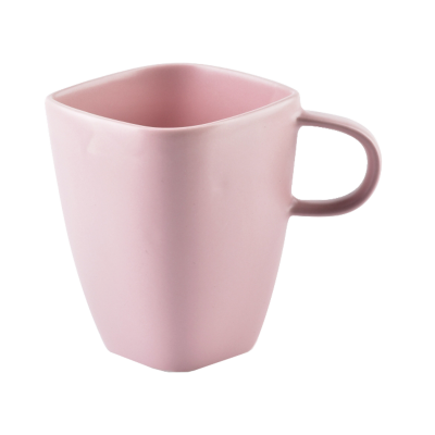 Kubek porcelanowy Happy różowy 350 ml