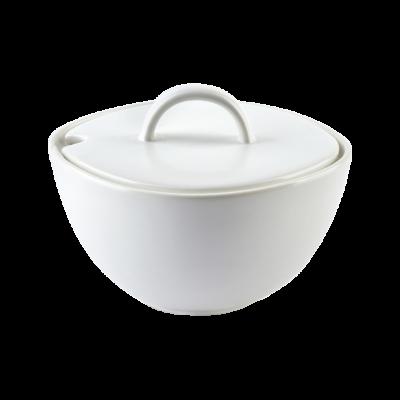 Cukiernica porcelanowa Happy biała 11,5X10,5X7,5
