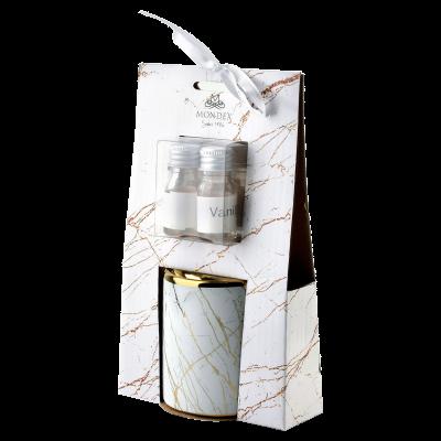 Kominek do aromaterapii z olejkiem walec biały 6,5x8 cm