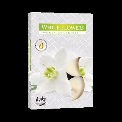 """Komplet podgrzewaczy zapachowych """"Białe kwiaty"""" 6 szt"""