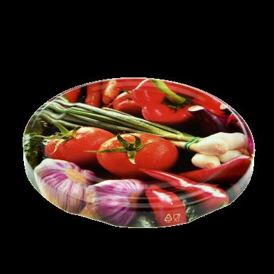 Wieczko do słoika fi82 6 zaczepów warzywa mix