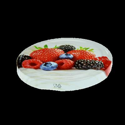 Wieczko do słoika fi82 6 zaczepów owoce mix