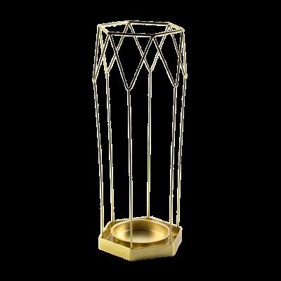 Parasolnik Cedric złoty 19,5x17x45 cm