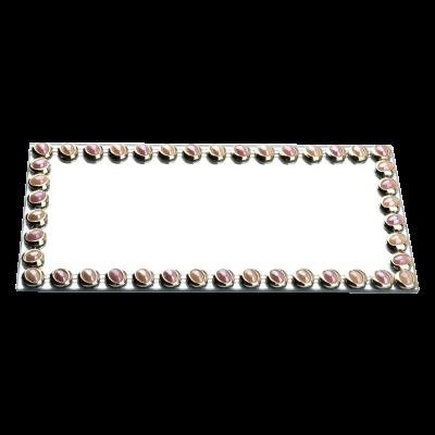 Podstawka dekoracyjna z lustrem Elia Pink 32x16 cm