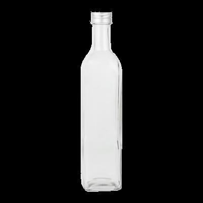 Butelka szklana z zakrętką kwadratowa 500 ml