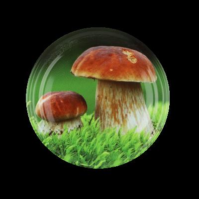 Wieczko do słoika fi66 4 zaczepy grzybki mix