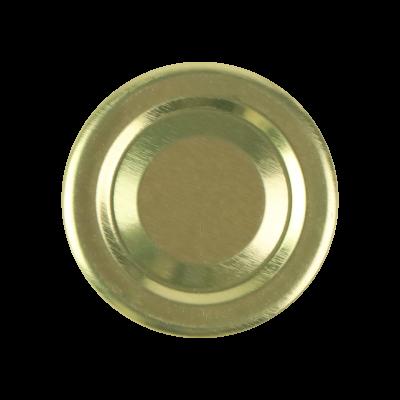 Wieczko do słoika fi43 złote, białe