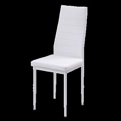 Krzesło tapicerowane eko skóra KAMA białe