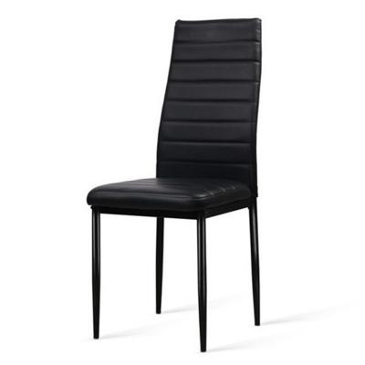 Krzesło tapicerowane eko skóra KAMA czarne