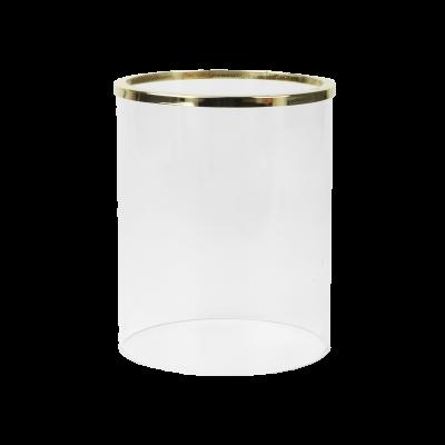 Szklany klosz do świecznika złoty 12x15 cm