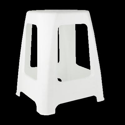 Stołek z tworzywa sztucznego biały 46 x 37,5 cm
