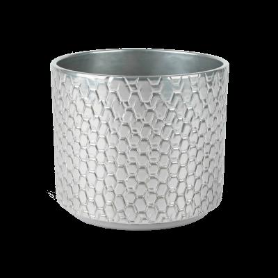 Osłonka ceramiczna cylindryczna Pirelli srebrna 16,5 cm