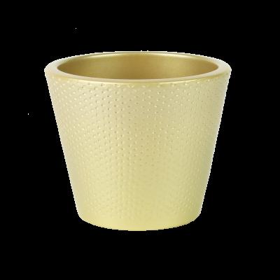 Osłonka ceramiczna stożkowa perłowy złoty 15 cm
