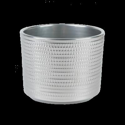 Osłonka ceramiczna cylindryczna Calla srebrna 16,5 cm