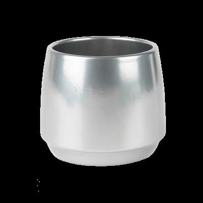 Osłonka ceramiczna gładka srebrna 12 cm