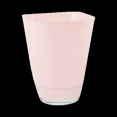 Osłonka szklana do storczyków pastelowy róż 13x17 cm