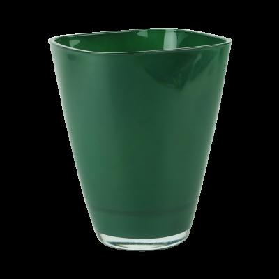 Osłonka szklana do storczyków butelkowa zieleń 13x17 cm