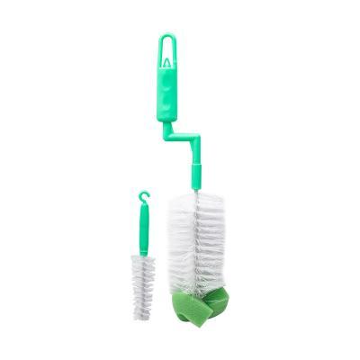 Szczotka do mycia butelek obrotowa z gąbką 30 cm