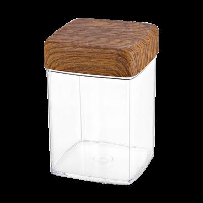 Pojemnik plastikowy na artykuły sypkie kwadratowy 1l