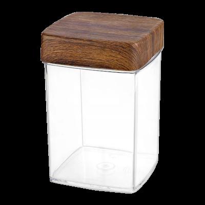 Pojemnik plastikowy na artykuły sypkie kwadratowy 1,9l