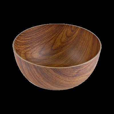 Salaterka plastikowa okrągła drewnopodobna 20 cm