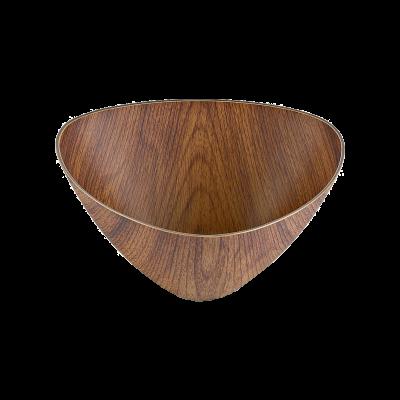 Salaterka plastikowa trójkątna drewnopodobna 16 cm