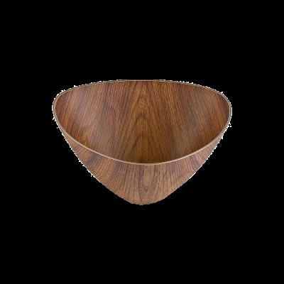 Salaterka plastikowa trójkątna drewnopodobna 12 cm