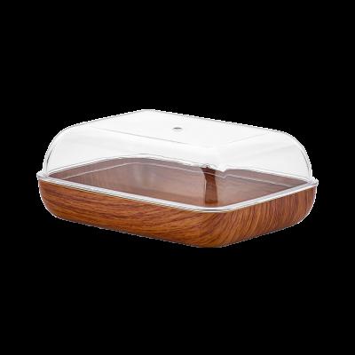 Maselnica plastikowa drewnopodobna 13,5x10x5 cm
