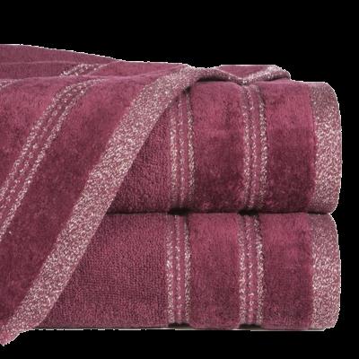 Ręcznik łazienkowy Glory bordowy 50x90 cm