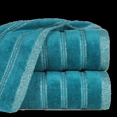 Ręcznik łazienkowy Glory turkusowy 50x90 cm