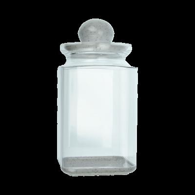Pojemnik plastikowy na artykuły sypkie z marmurkową pokrywką 1,3l