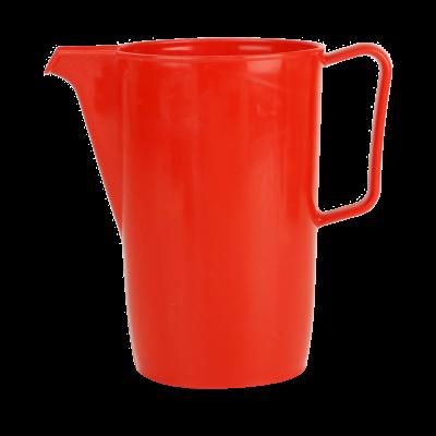Dzbanek plastikowy czerwony 2l