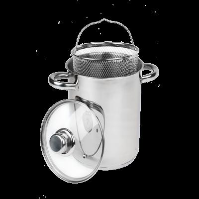 Garnek wysoki do gotowania z koszykiem TOPFANN 4,2l