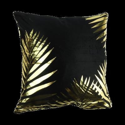 Komplet 2 ozdobnych poszewek na poduszkę złote liście 43x43 cm