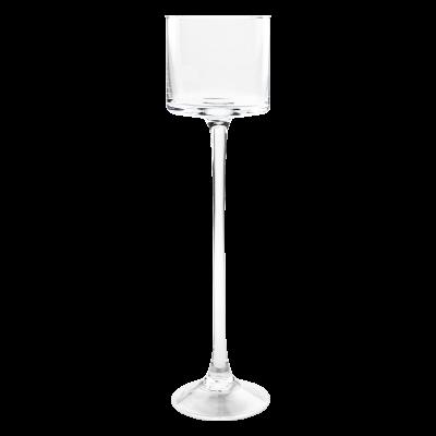 Świecznik szklany kielich 9x35 cm