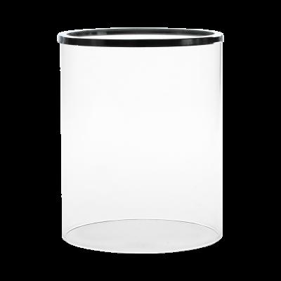 Szklany klosz do świecznika srebrny 12x15 cm