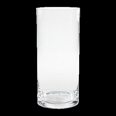 Wazon szklany cylinder ze szlifem 10x22 cm