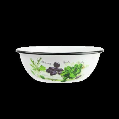 Miska emaliowana zioła 2,5l