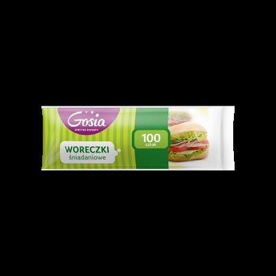 Woreczki śniadaniowe GOSIA 100 szt