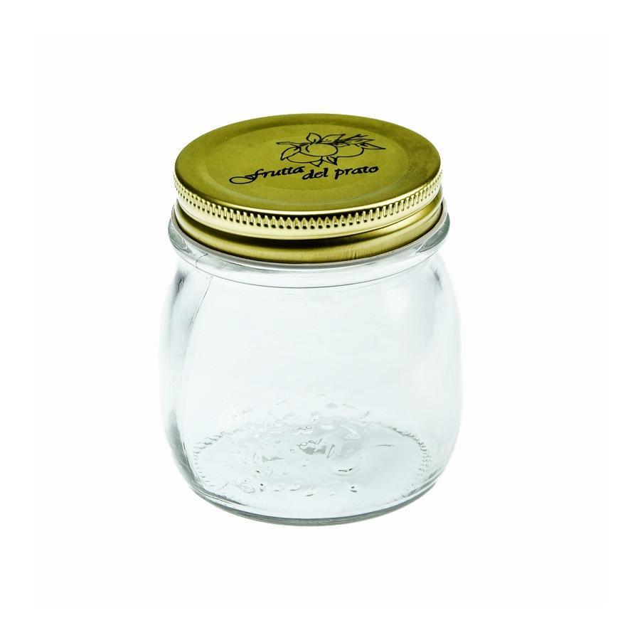 Szklany słoik kuchenny z metalową nakrętką  250ml  - 1