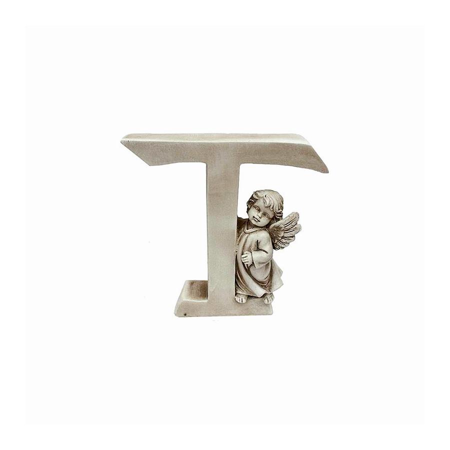 Ozdobna literka z aniołkiem - T - 1