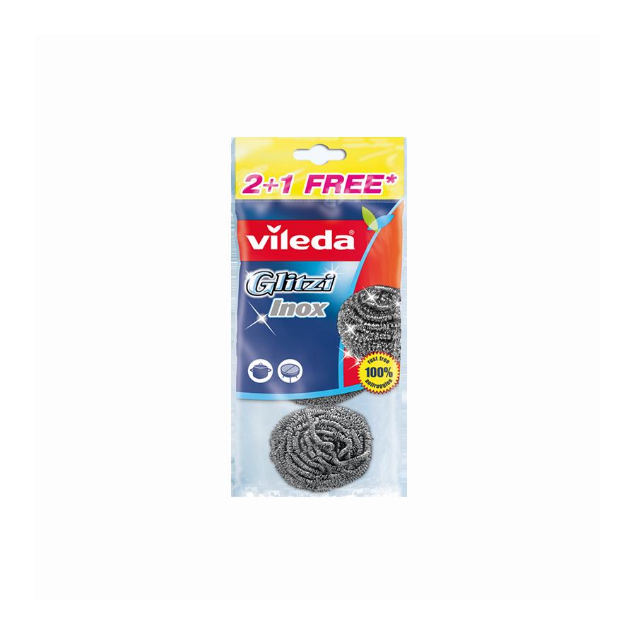 Zmywak metalowy INOX 3 szt VILEDA Vileda - 1