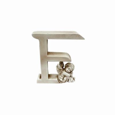 Ozdobna literka z aniołkiem - F