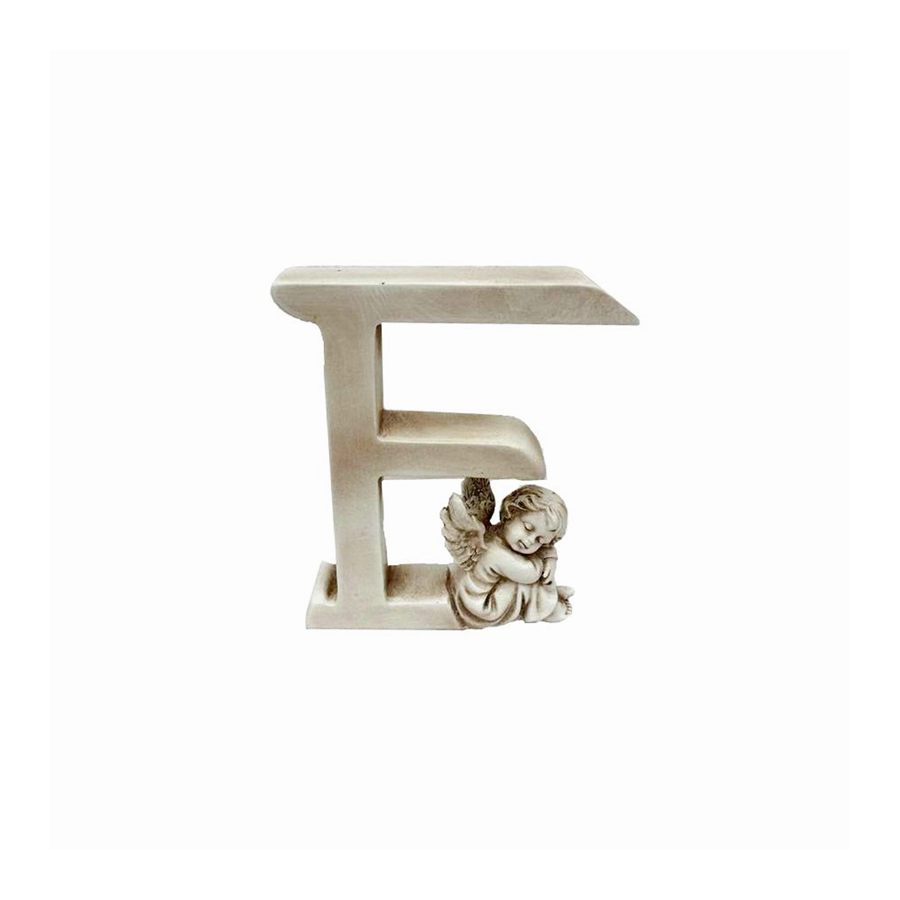 Ozdobna literka z aniołkiem - F - 1