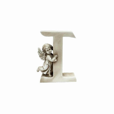 Ozdobna literka z aniołkiem - I