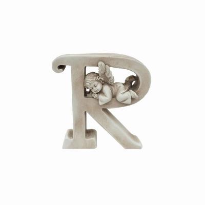 Ozdobna literka z aniołkiem - R