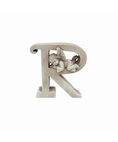 Ozdobna literka z aniołkiem - R  - 1